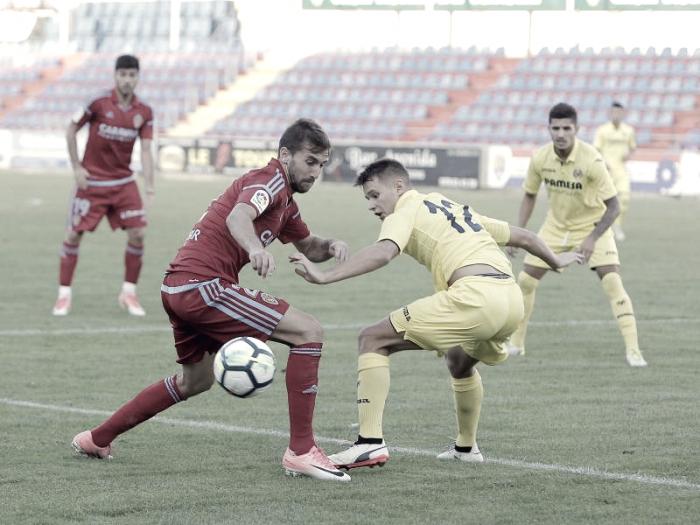 El Real Zaragoza cae ante el Villarreal 'B' en su tercer partido de pretemporada