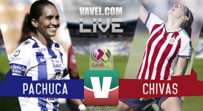 Resultado y goles del Pachuca 2-0 Chivas de la Final de ida de la Liga MX Femenil 2017