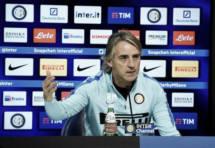 """Inter, parla Mancini: """"Non sono un frustrato. Resto ottimista: lottiamo per il 3° posto"""""""