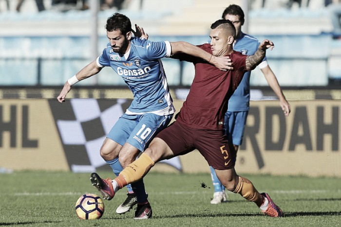 Roma fica no zero com Empoli e deixa Juventus isolada na liderança da Serie A