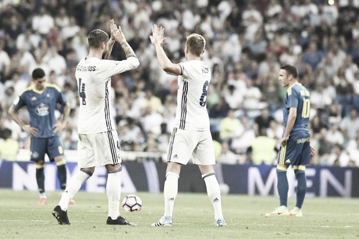 Liga, il Real vince a fatica contro il Celta Vigo (2-1). A segno Morata e Kroos