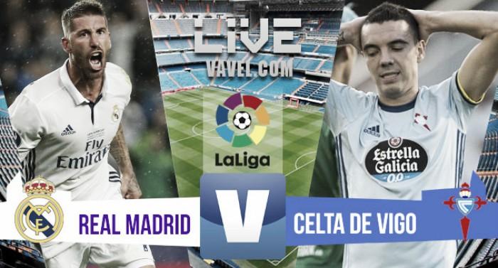 Real Madrid vence o Celta de Vigoem La Liga 2016 (2-1)