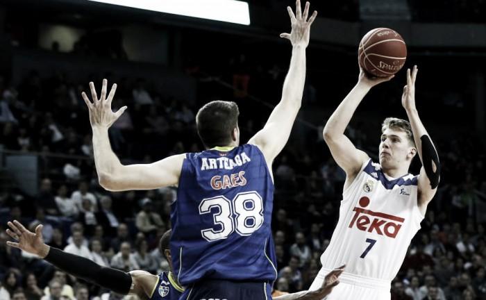 El Real Madrid sabe sufrir y se encomienda a Luka Doncic para vencer a Movistar Estudiantes (96-89)