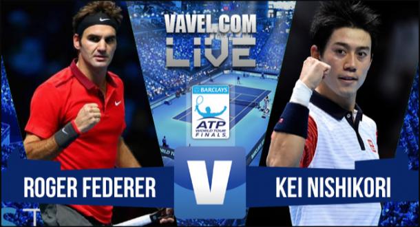 ResultadoRoger Federer x Kei Nishikori no ATP Finals 2015