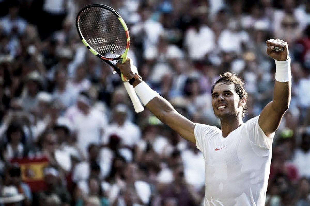 """Rafa Nadal: """"Es un momento para disfrutarlo y encantado de poder volver a unas semifinales en Wimbledon"""""""