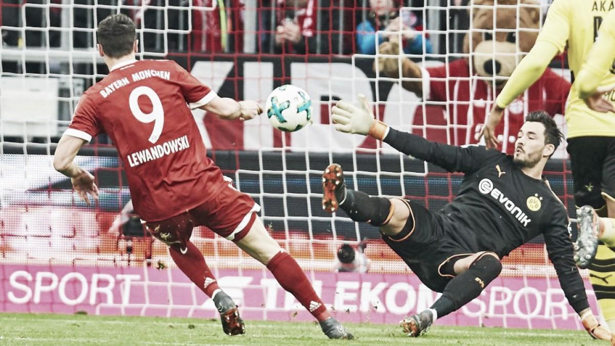 Com triplete de Lewandowski, Bayern trucida Borussia Dortmund e encaminha hexacampeonato