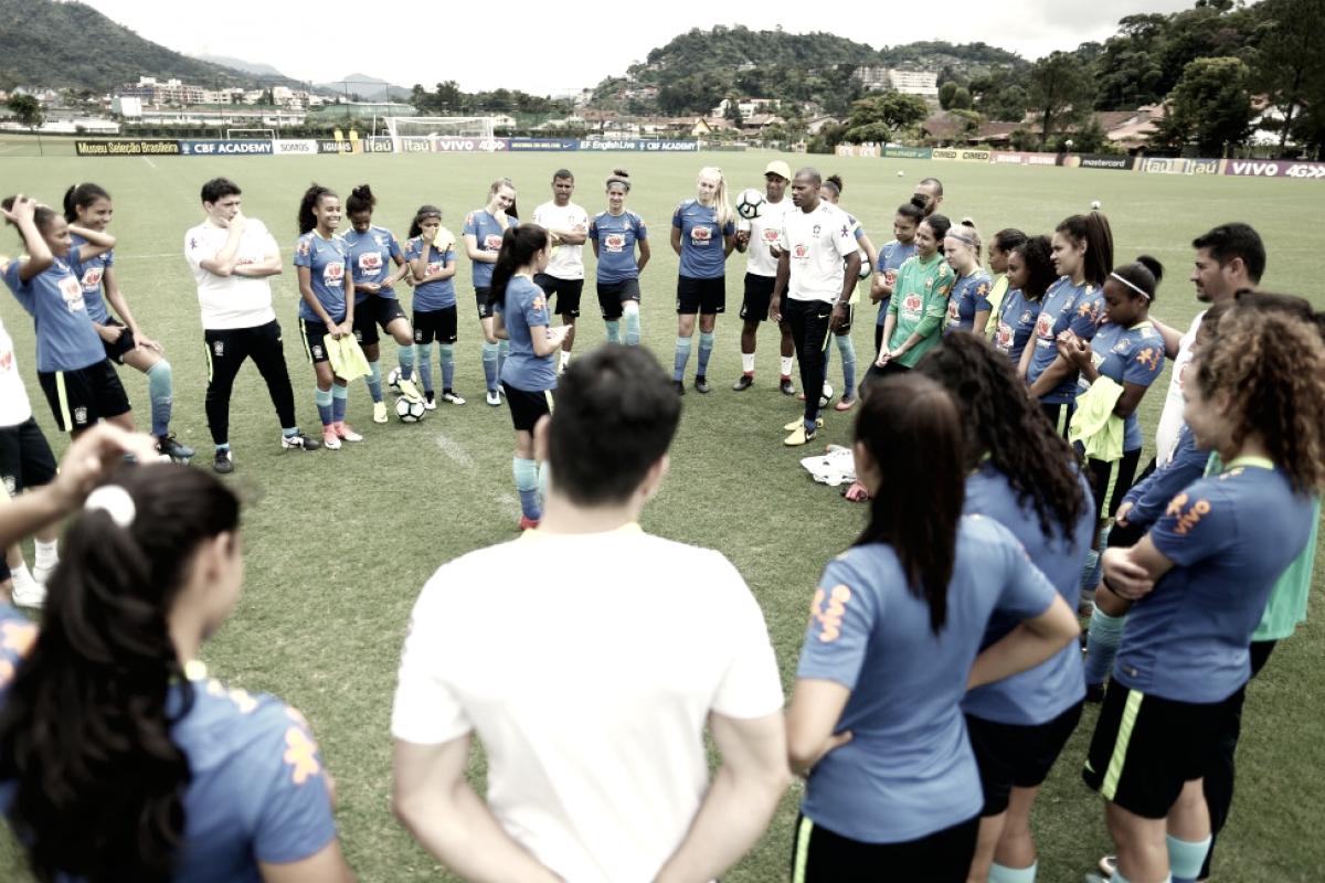 Seleção Feminina Sub-17 se prepara para duelo contra Equador no Sul-Americano