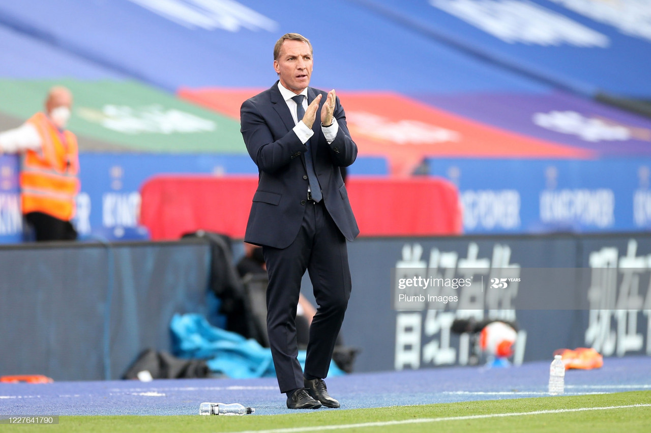 Brendan Rodgers takes charge of his first European match with Leicester City on Thursday evening | Photo: Getty/ Plumb Images