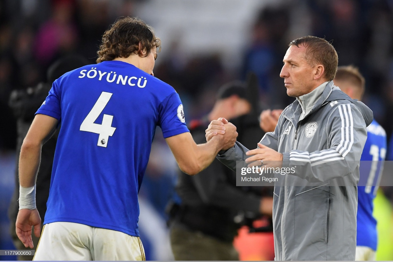 Caglar Soyuncu praised by Brendan Rodgers following Brighton win