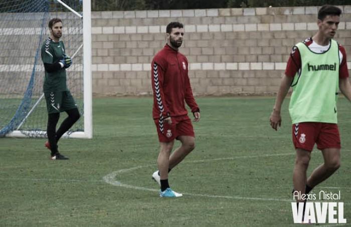 Rodri Ríos presente en el primer entrenamiento de la semana