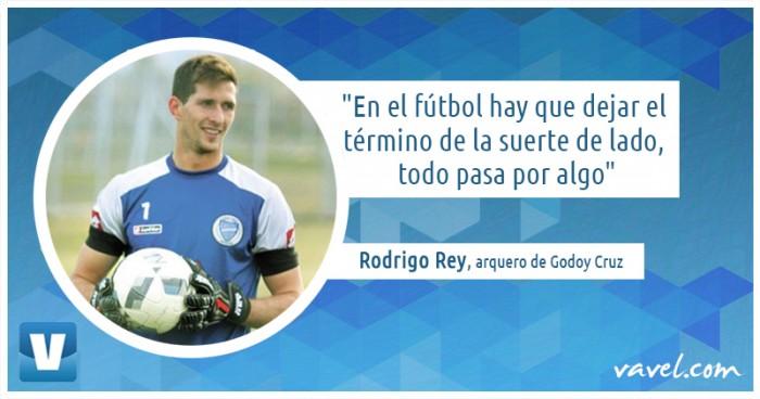 """Entrevista. Rodrigo Rey: """"Mi sueño es jugar la Libertadores con Godoy Cruz"""""""