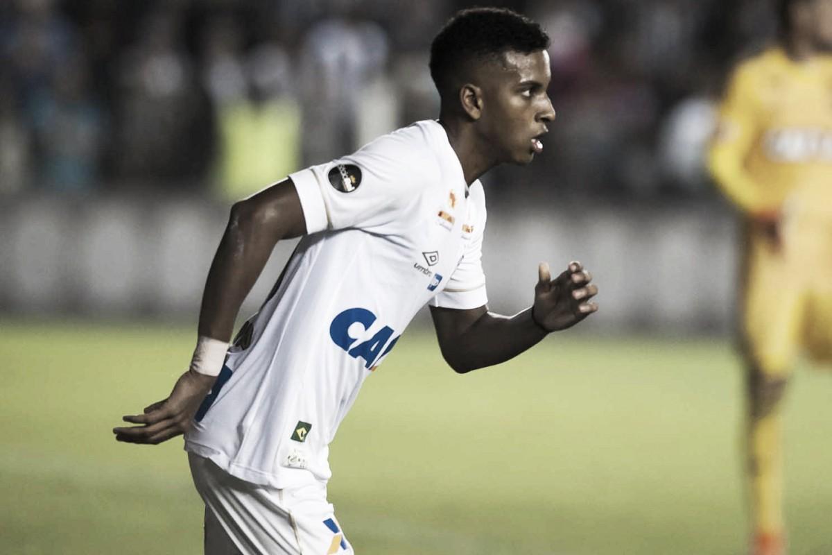 Rodrygo treina normalmente e deve jogar contra o Cruzeiro