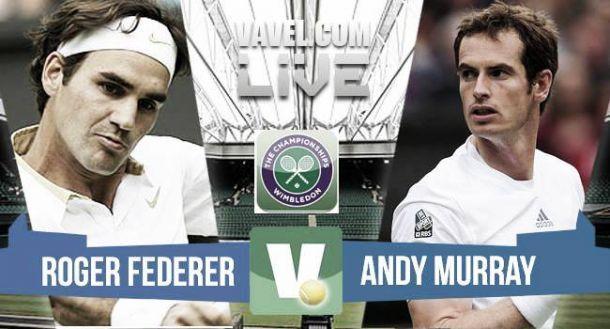 Live Murray - Federer, risultato semifinale Wimbledon 2015  (0-3)