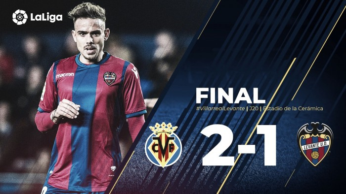 Villarreal-Levante UD: puntuaciones del Levante de la jornada 20 de la Liga Santander