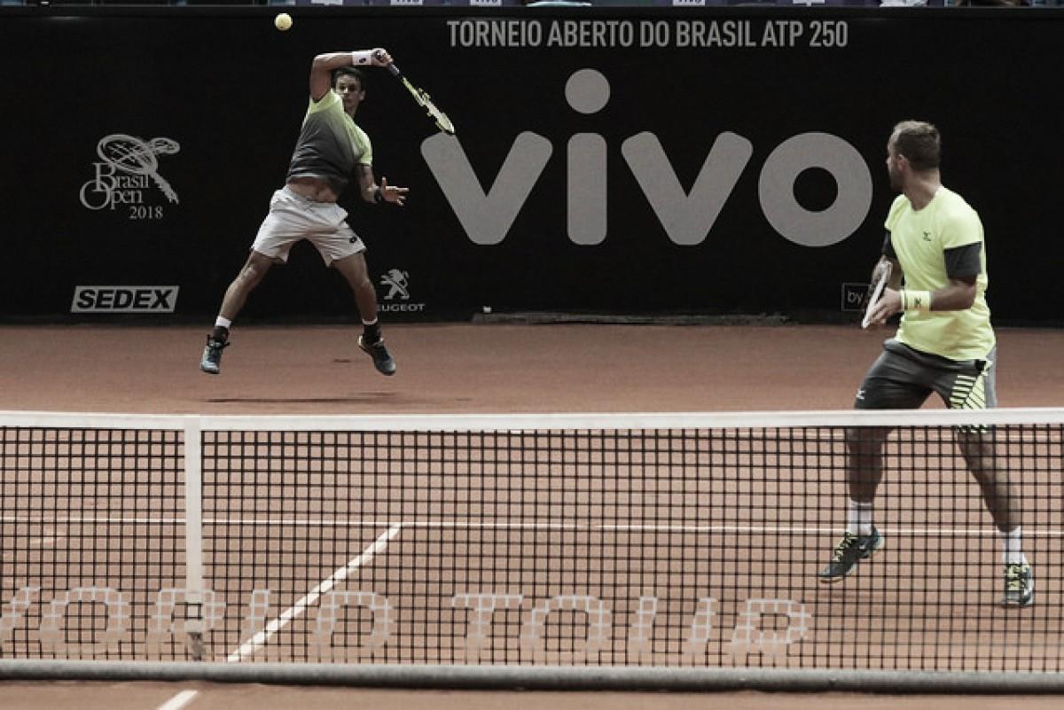 Rogerinho para na semifinal de duplas do Brasil Open