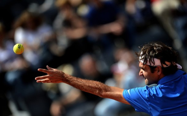 Fognini giá fuori a Roma, bene Federer
