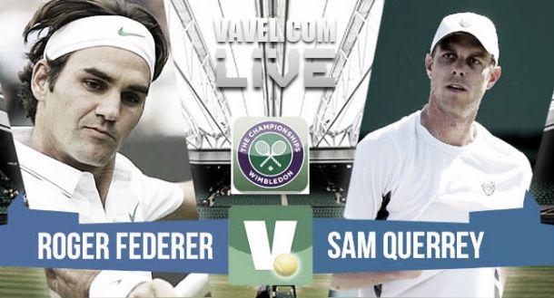 Resultado Roger Federer vs Sam Querrey en Wimbledon 2015 (3-0)