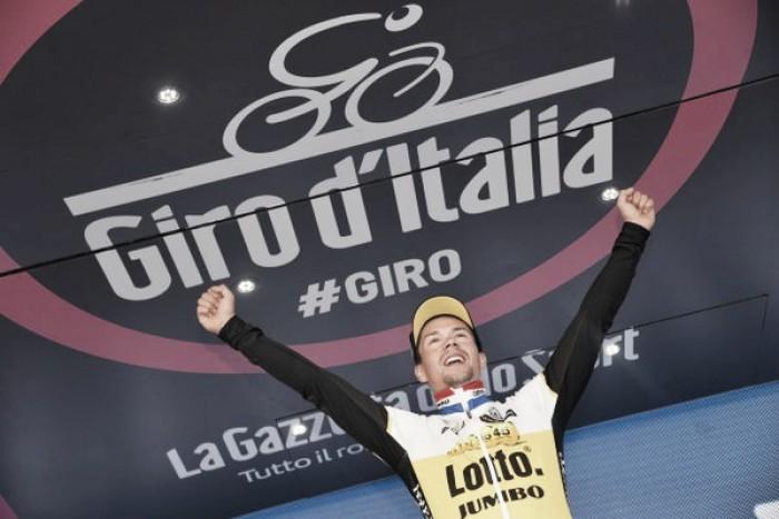 Giro d'Italia, a Roglic la crono del Chianti. Brambilla in rosa per un secondo, distacchi minimi tra i big