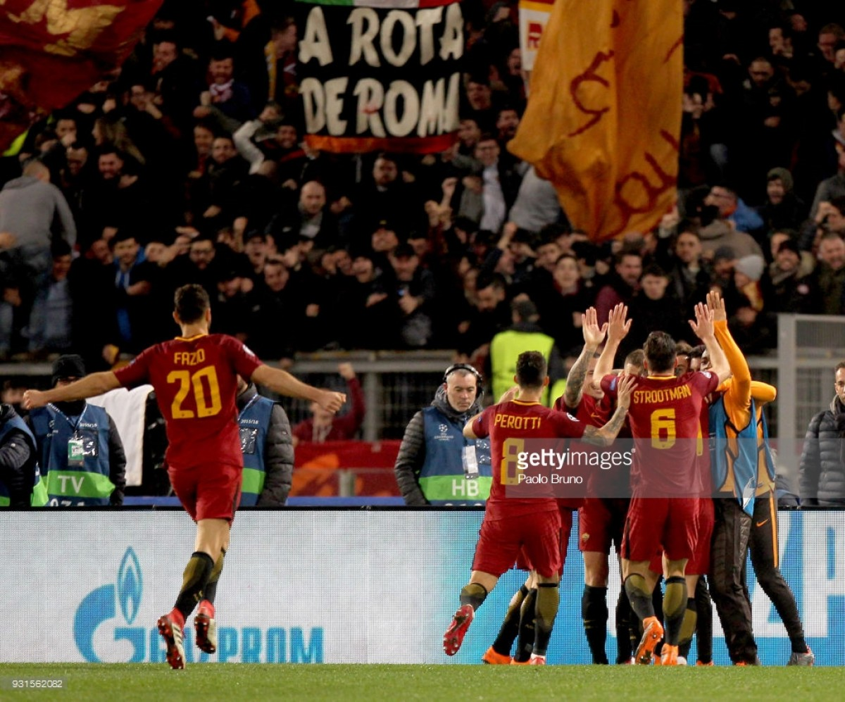 AS Roma (2) 1-0 (2) Shakhtar Donetsk: Second-half Dzeko strike puts Roma into Champions League quarter-finals