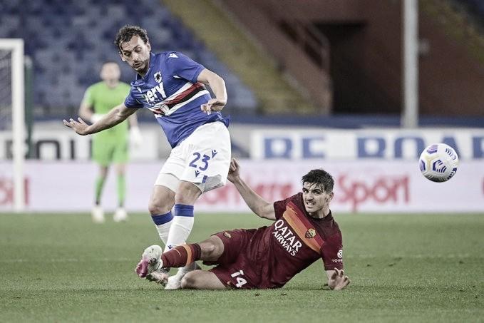 Com Dzeko desastroso, Sampdoria vence Roma no Luigi Ferraris