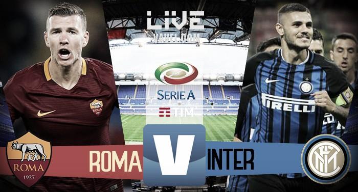 Roma - Inter in diretta, LIVE Serie A 2016/17 - Dzeko, Icardi (2), Vecino! (1-3)