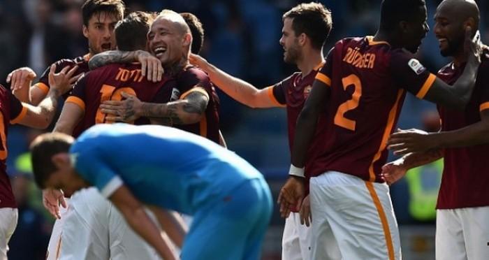Serie A - Il Napoli cade a Roma, la Juve è campione d'Italia: 1-0 all'Olimpico