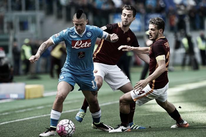 Napoli e Roma se enfrentam em confronto direto pela vice-liderança da Serie A