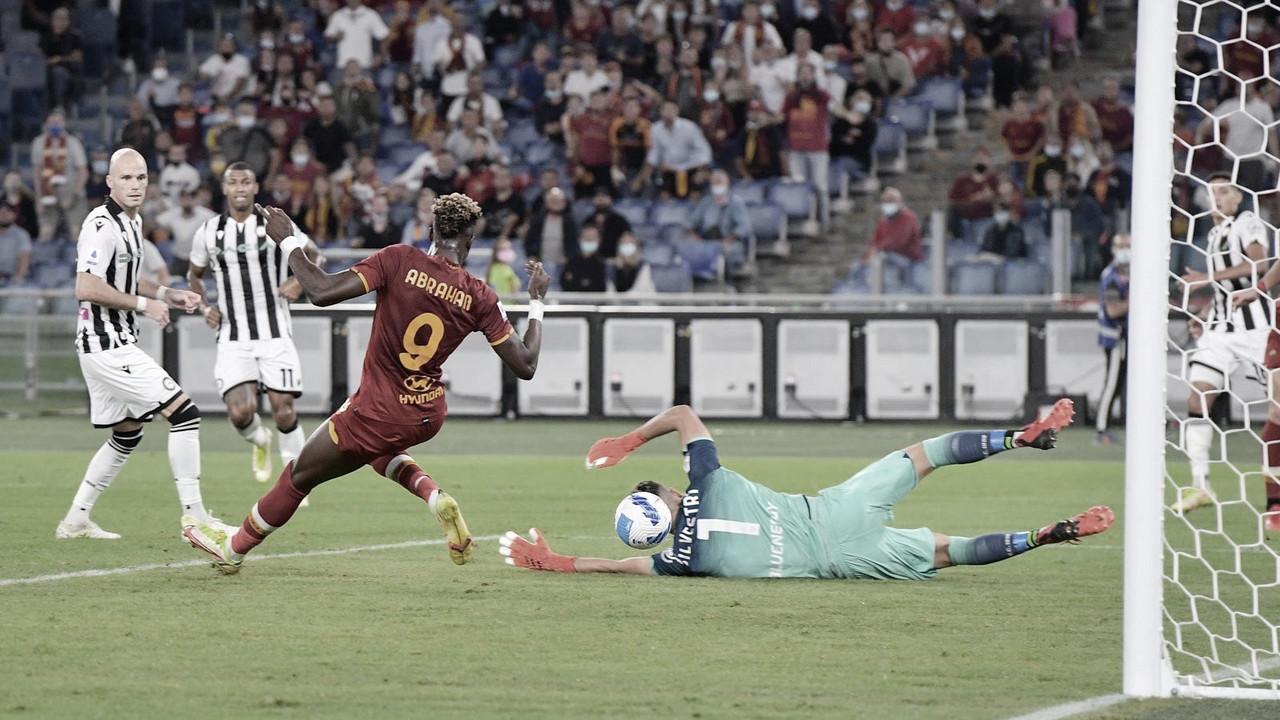 Com gol decisivo de Abraham, Roma vence Udinese e entra no G-4 da Serie A
