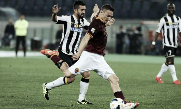 Diretta Roma - Udinese in risultato partita Serie A (2-1)