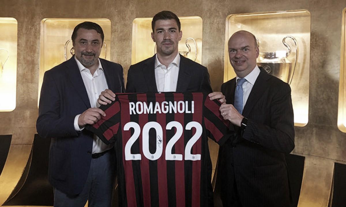 Pilar na zaga do Milan, Romagnoli estende vínculo até 2022