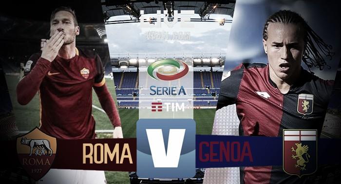 Roma - Genoa in diretta, Serie A 2016/17 LIVE (3-2): Roma seconda, Totti dice addio ai colori giallorossi!