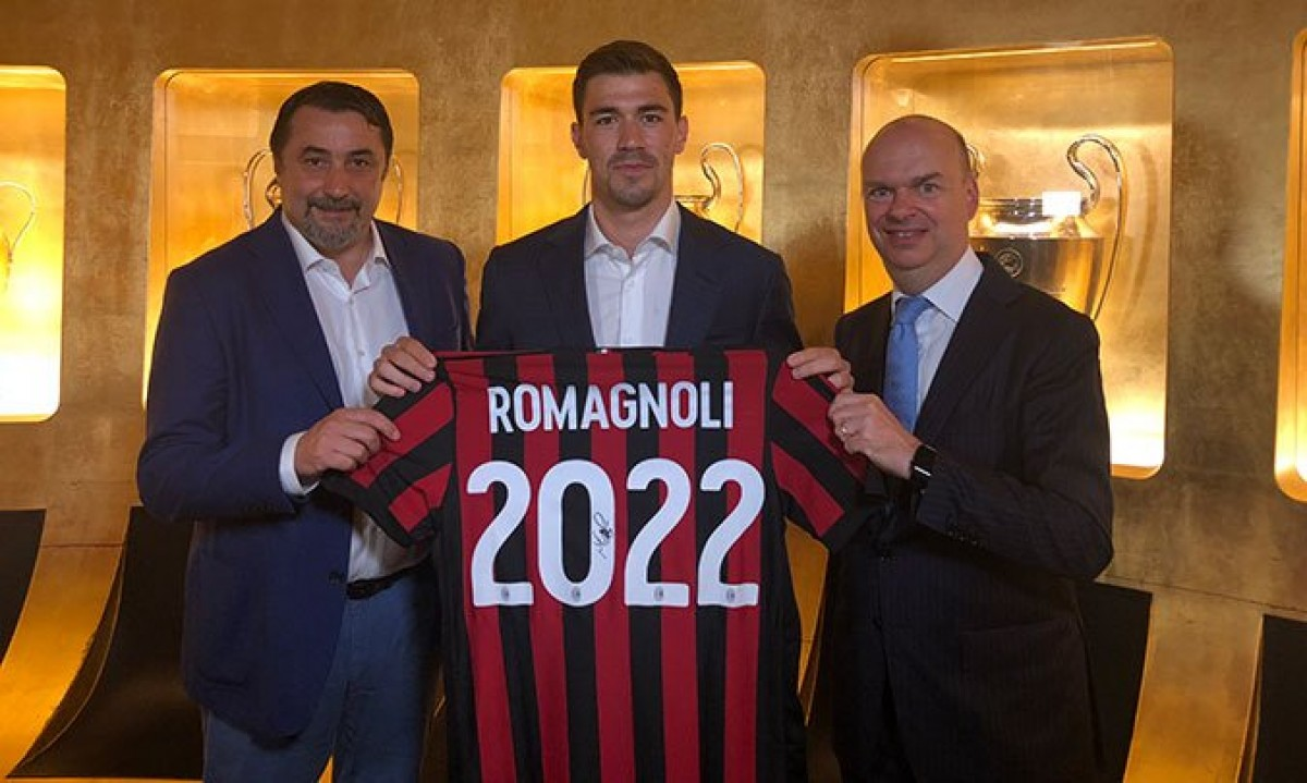 Romagnoli ha rinnovato con il Milan fino al 2022