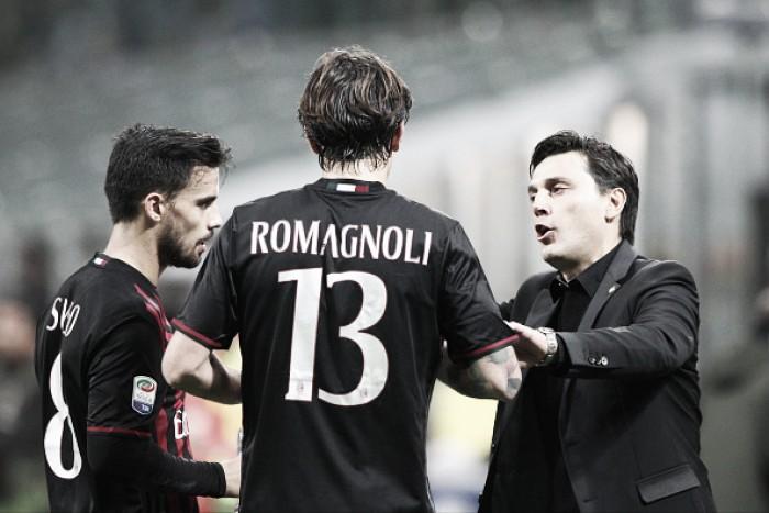"""Montella indica ausência de Romagnoli contra a Inter: """"Temos pouquíssimas esperanças"""""""