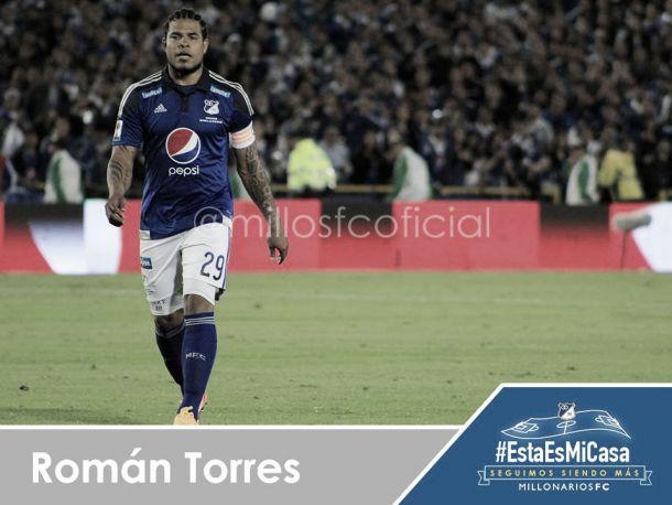 Millonarios se queda sin Román Torres