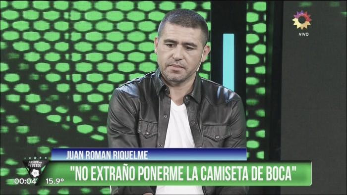 "Riquelme: ""No extraño ponerme la camiseta de Boca"""
