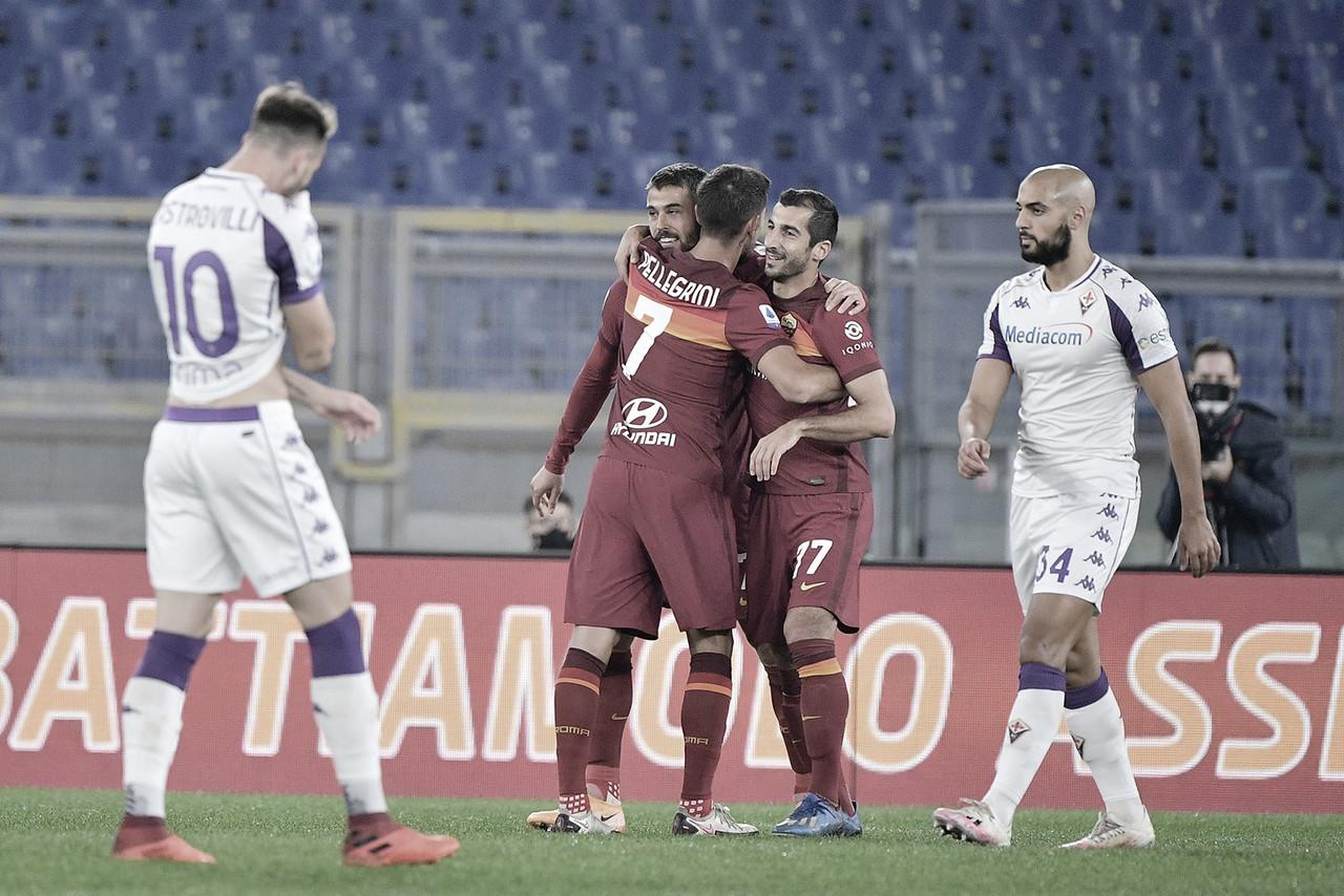 Roma sofre pouco e bate Fiorentina com tranquilidade na Serie A