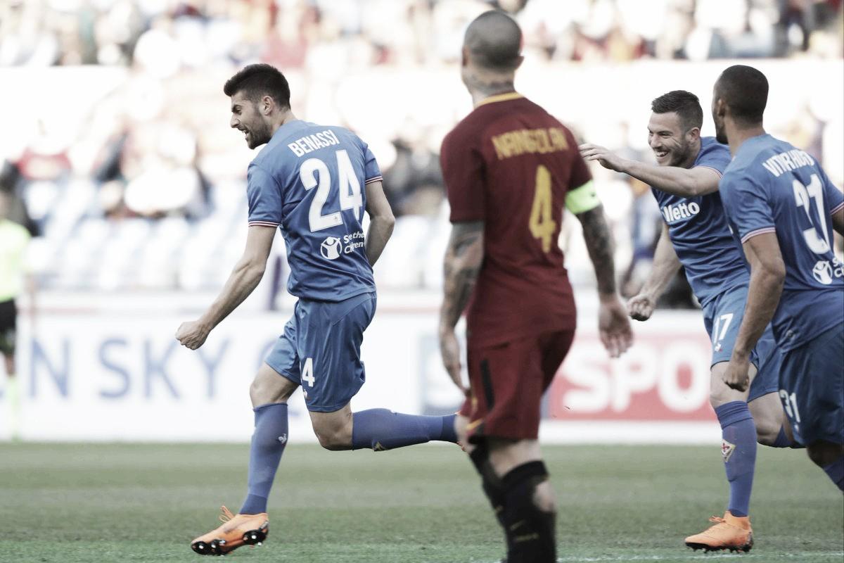 Fiorentina iguala sequência histórica, derruba Roma fora de casa e entra na zona de UEL