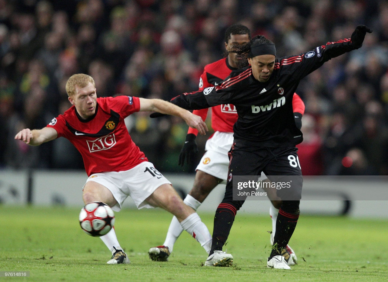When Manchester United met AC Milan in the Champions League