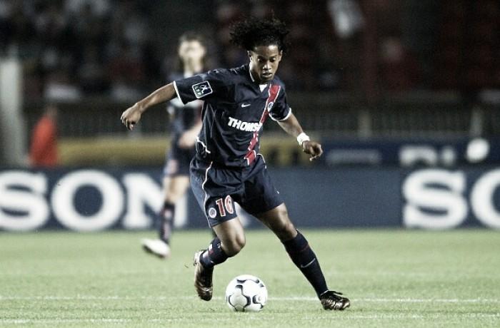 """Ex-companheiro de Ronaldinho no PSG revela: """"Ele não treinava nenhum dia da semana"""""""