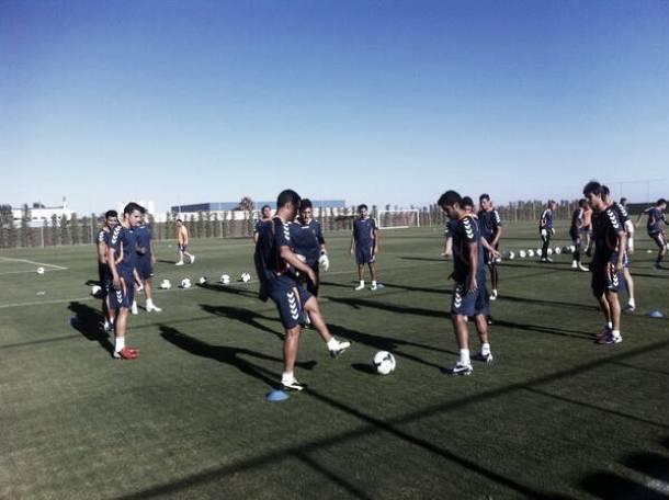 El Real Valladolid finaliza los entrenamientos en San Pedro del Pinatar