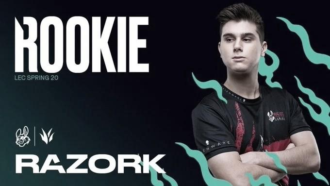 "Razork,premiado al mejor ""Rookie"" del split de primavera"