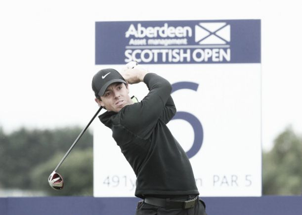 Open d'Écosse : Rory McIlroy en tête après le premier tour