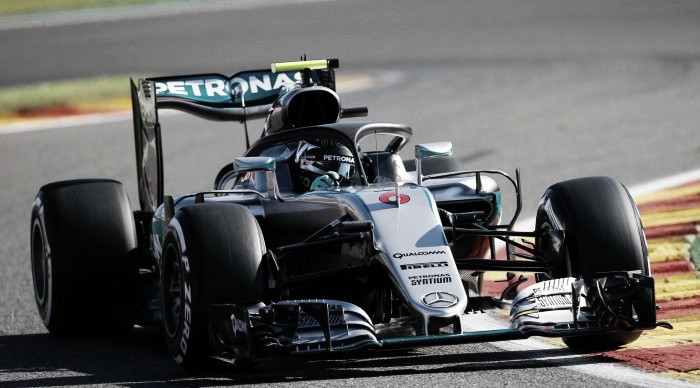Belgian GP: Rosberg fastest in busy First Practice