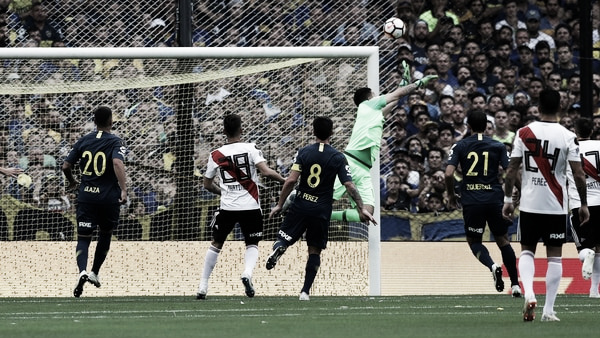Rossi y Nández, lo más destacado para Boca en la final de ida de la Libertadores ante River