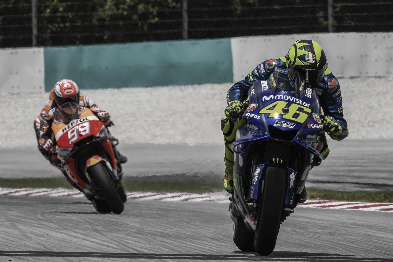 De vuelta al GP de Malasia 2018: Rossi a suelo y Márquez al podio