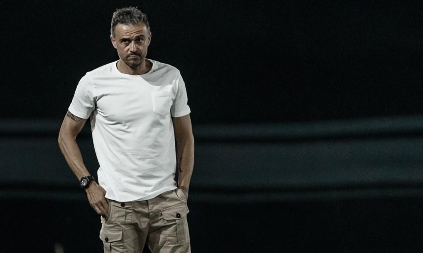 """Luis Enrique: """"La defensa ha hecho un partido excelente"""""""