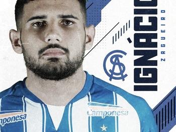 CSA anuncia a contratação do zagueiro Ignácio, do Bahia