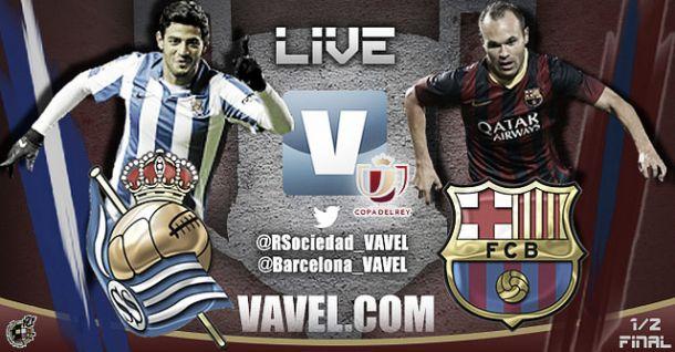 Resultado Real Sociedad vs Barcelona en la Copa del Rey 2014 (1-1)