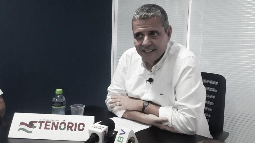 """Baseado na união, Ricardo Tenório anuncia candidatura à presidência: """"O Fluminense é maior"""""""
