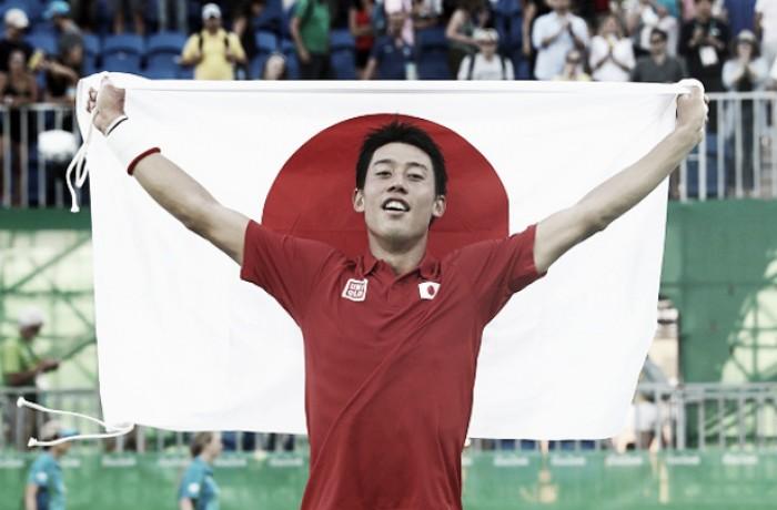 Kei Nishikori vence Rafael Nadal e conquista medalha de bronze no Rio